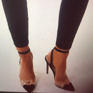 Shoes - HeartThrob Heart Court Heels in Black Faux Suede